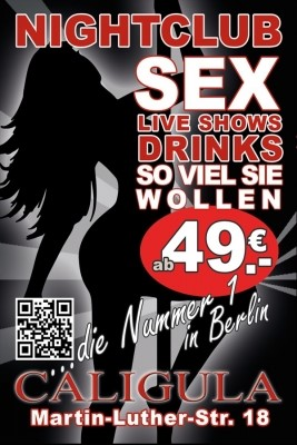 Caligula Sexclub Bordell Berlin Flyer im Erotikguide Berlin by Correct Conception GmbH