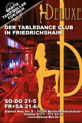 Deluxe Bar Nachtclub Berlin Flyer im Erotikguide Berlin by Correct Conception GmbH