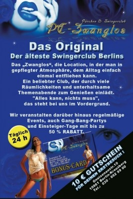 Swingerclub Berlin Flyer im Erotikguide Berlin by Correct Conception GmbH