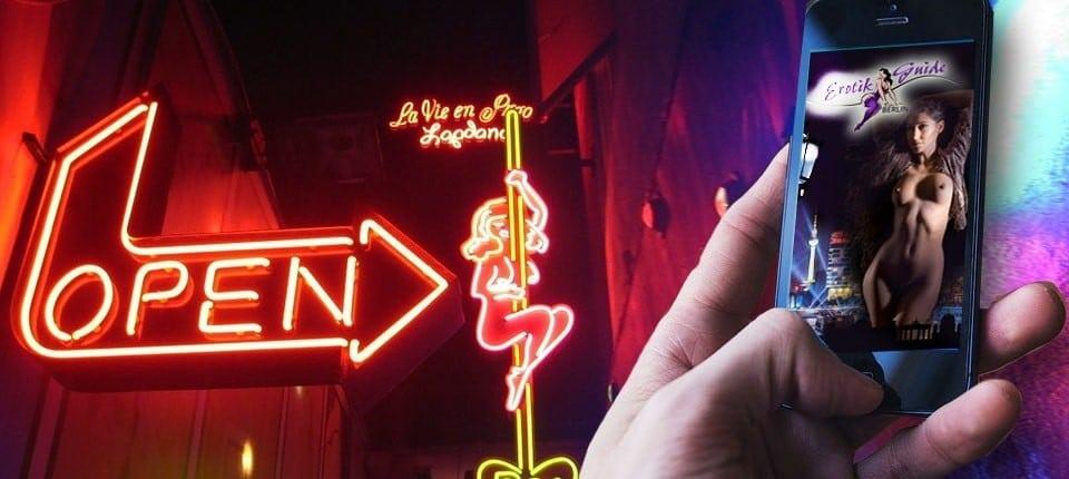 Sexportal und Bordellführer optimiert für Mobiltelefon